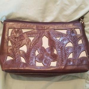 Handbags - Brown and Tan Clutch